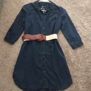 Zara Denim dress US XS. NWOT (belt is free)